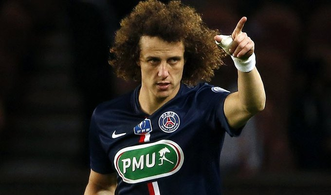 -Germain's Brazilian defender David Luiz celebrates after scoring a goal during the French Cup football match between Paris Saint-Germain (PSG) and Mo.jpg